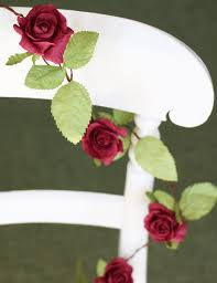 Paper Flower Garland Paper Rose Garland 5 Colours Ivory White Red Pink Yellow