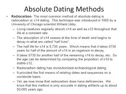 archaeology absolute dating definition