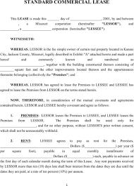 Standard Commercial Lease Agreement Standard Commercial Lease Agreement Templates Forms Pinterest