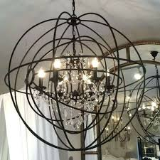 large metal orb chandelier metal orb chandelier large round metal double orb chandelier crystal droplets metal