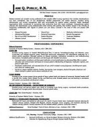 Resume For Nurses Free Sample