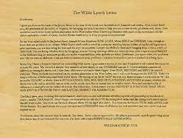 alleged willie lynch letter