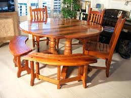curved bench for round dining table residence interior appealing with 43 about 15
