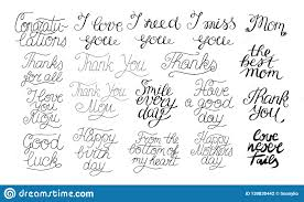 19 Hand Lettering Quotes I Love You Happy Birthday Thank You The
