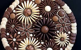 Chocolate Flowers Cake Decoration Telegraph