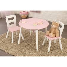 kidkraft round table chair set pink white hayneedle masterkd full size