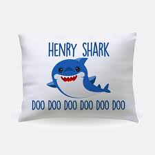 personalized baby shark pillowcase gift