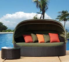 Round Outdoor Bed Furniture Wicker Outdoor Bed Canopy Day Bed Outdoor Daybed