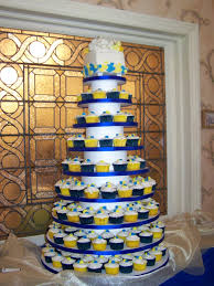 Royal Blue And Yellow Baby Shower Cake A Licious Royal Blue And