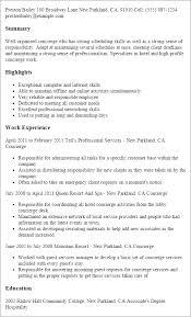 Concierge Resume Template Best Design Tips Myperfectresume