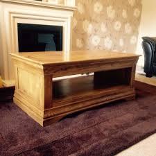french farmhouse rustic solid oak coffee table from oak furnitureland