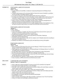 Resume Purchasing Purchasing Assistant Resume Samples Velvet Jobs
