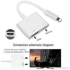 professional hdmi cable adapter for apple interface 8pin to hdmi digital av converter for ipad iphone ios 11 10 cell phone adapter for car cell phone