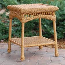 tortuga outdoor portside wicker side table