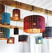 exciting ikea lights hanging many hanging lamps are diffe colors and hanging on wood