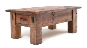 timber coffee table distressed