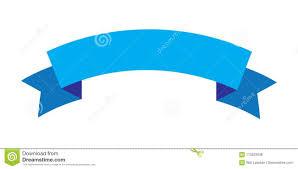 Blue Ribbon Design Ribbon Design Blue Color Ribbon Icon Stock Vector