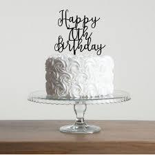 Happy 70th Birthday Cake Topper Funky Laser