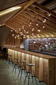 the attic bar by inblum architects in minsk belarus bar lighting ideas