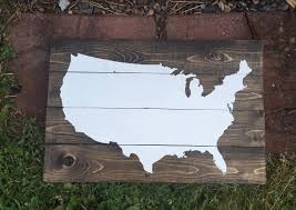 usa map wooden pallet sign united states map on wood wooden wall art