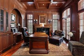 executive office decorating ideas. Expensive Home Office Decorating Ideas With Leather Swivel Chair And Wooden Executive Desk T