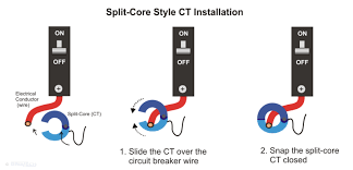 "current transformers power energy monitors brultech research inc notice that the installation of the ""split core"" style ct doesn t require any wire disconnection although the installation is simpler and quicker that"