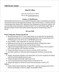 A Summary For A Resumes Sample Professional Summary Resume 8 Examples In Pdf