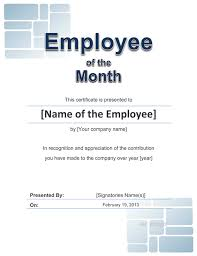 Format Of Employer Certificate Employee Award Cetificate Free Template For Word