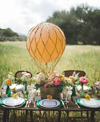 outdoor table decoration for wedding hot air ballon centerpiece flowers jpg