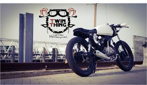 honda cg 125 cafe racer custom www twinthing co uk youtube