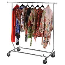 National Hanger Company Collapsible Rolling Garment Rack Inside Brilliant Rolling  Clothes Rack With Cover