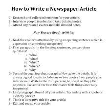 Create Newspaper Article Template Create A Fake Newspaper Article Template Format For How To Write