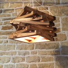 rustic wood light ceiling light fixture pendant spiral lamp shade lighting wooden fixtures t92