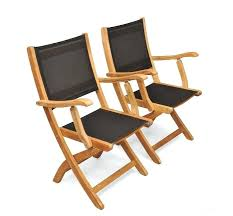 patio chair sling fabric teak folding providence chair with black outdoor vinyl mesh for patio sling
