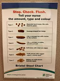Stool Chart Images Bristol Stool Chart On The Door Of A Hospital Toilet Cubicle