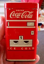Vending Machine Piggy Bank Enchanting 48s COCACOLA TIN LITHO TOY VENDING MACHINE COIN BANK Antiques