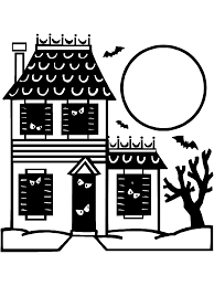 Small Picture Halloween Coloring Page Haunted House PrimaryGames Play Free