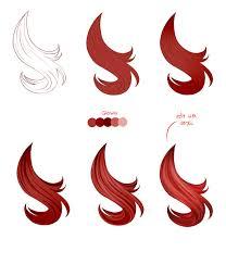 hair tutorial paint tool sai by pittsdolls