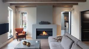 Contemporary Fireplace With Design Picture