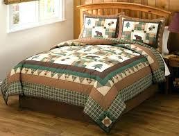 pleasant design ideas log cabin bedding sets comforter comforters s l on nursery beddings rustic canada together