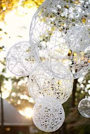 clever diys made with yarn diy lantern chandeliers yarn crafts to try easy