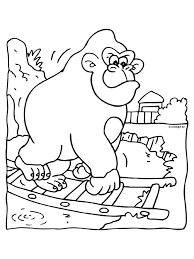 Kleurplaat Gorilla Bokito Opnieuw Ontsnapt Kleurplatennl