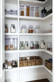 pantries kitchen white stacked pantry shelves with labeled mason jars transitional inside kitchen storage remodel