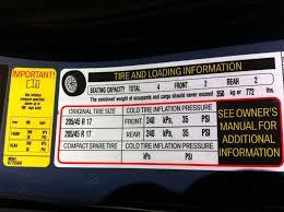 Cooper Tire Air Pressure Chart R50 R53 38psi Tire Pressure On The Sticker North American