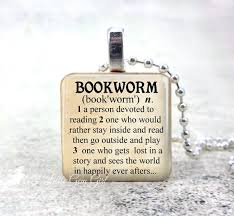 necklace for book lover bookworm