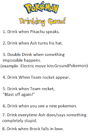 Pokemon Drinking game rules by Froodals on DeviantArt