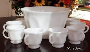 well today i have a great set to add to my milk glass collection and wanted to show it to you