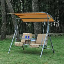 outdoor furniture swing chair. Outdoor Swing Chair Canopy Patio Garden Hanging 2 Person Yard Porch Furniture