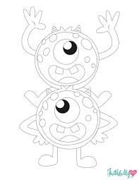 In addition, the kid is carried away and does not bother his mother while she does her business. Monster Coloring Pages Free Printables Faithfully Free