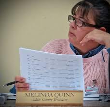 Adair Treasurer Melinda Quinn at AC Fiscal Court Sessin on  ColumbiaMagazine.com